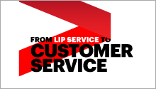 From lip service to customer service
