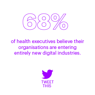 68% of health executives believe their organizations are entering entirely new digital industries.