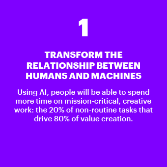 Transform the relationship between humans and machines