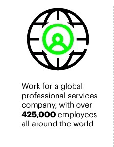 Work for a global professional services company, with over 425,000 employees all around the world