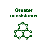 Greater consistency