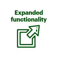 Expanded functionality