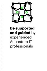 Be supported and guided by experienced Accenture IT professionals