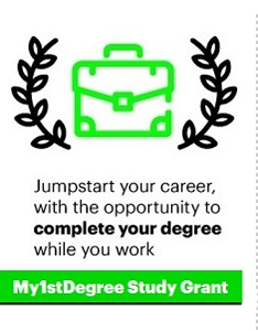 Jumpstart your career, with the opportunity to complete your degree while you work