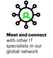 Meet and connect with other IT specialists in our global network