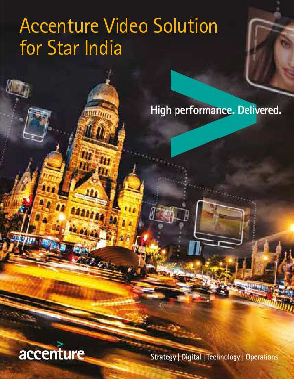 Accenture Video Solution for Star India. This opens a new window.
