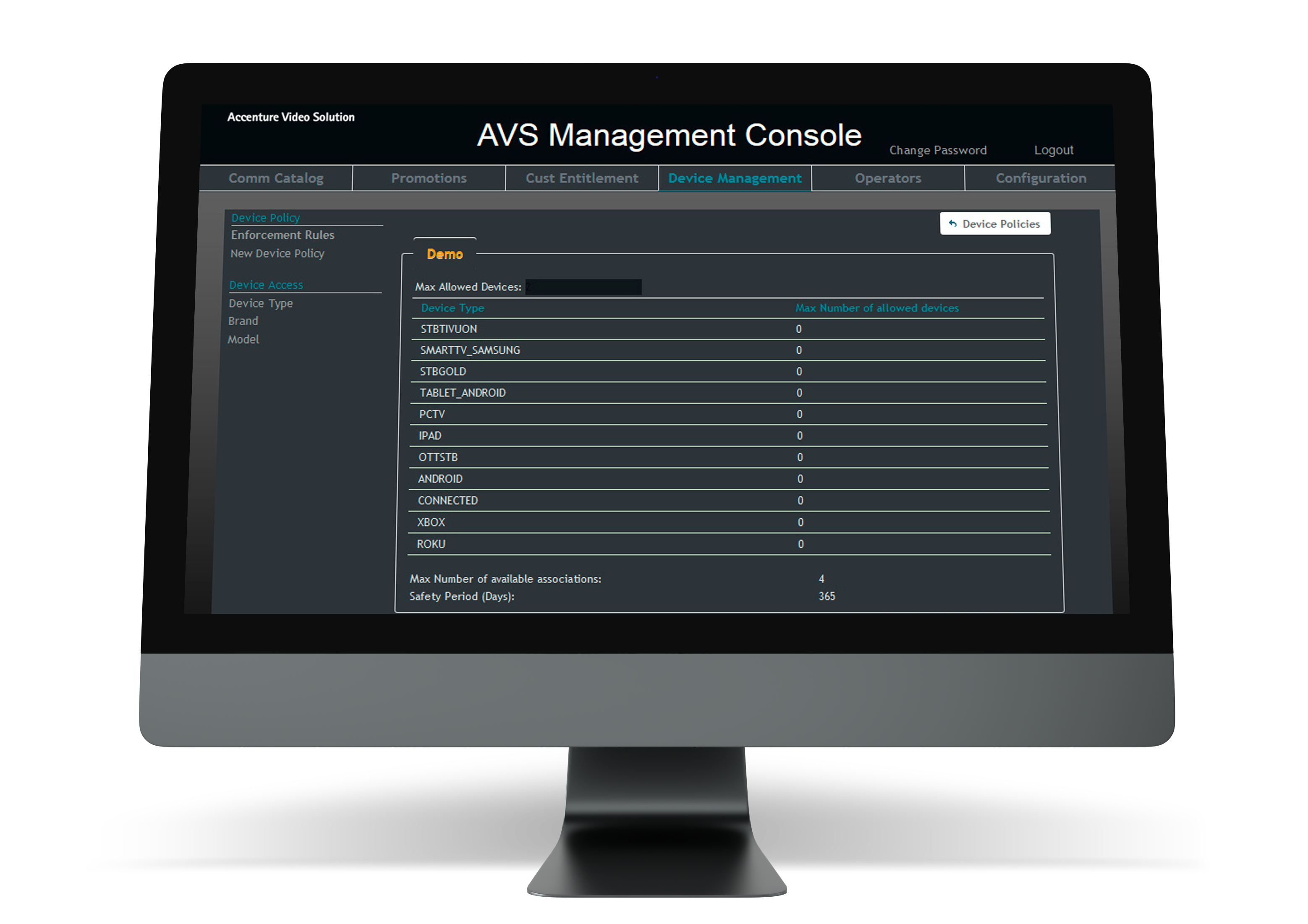 Control how your content is consumed through robust device management policies