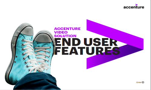 Accenture video solution end user features