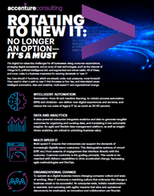 Click here to download the infographic. Rotating to New IT: No Longer an Option—it's a Must. This opens a new window.
