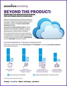 Click here to download the infographic. Beyond the Product: Rewriting the innovation playbook for software-driven companies. This opens a new window.