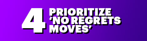 4: Prioritize 'No Regrets Moves'