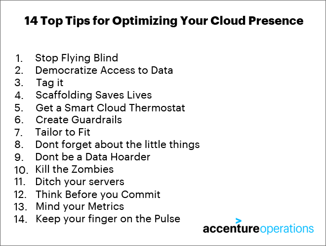 14 Top Tips for Optimizing Your Cloud Presence