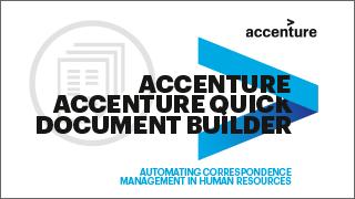 Quick Document Builder Product | Accenture