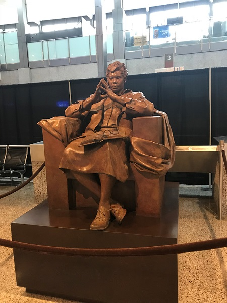 Statue of Barbara Jordan at the Austin, Texas, Airport