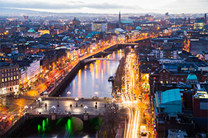 Dublin, city view