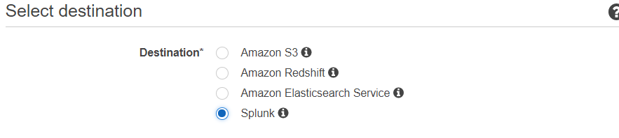 Splunk destination