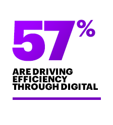 Drive efficiency through digital (57%)