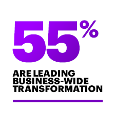 Lead business-wide transformation (55%)