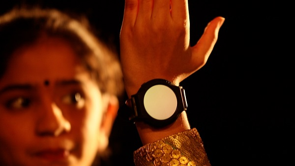 Woman with accessible watch
