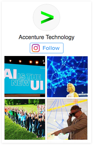 Follow Accenture Technology on Instagram. This opens a new window.