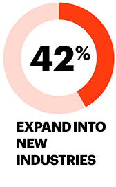 42% expand into new industries