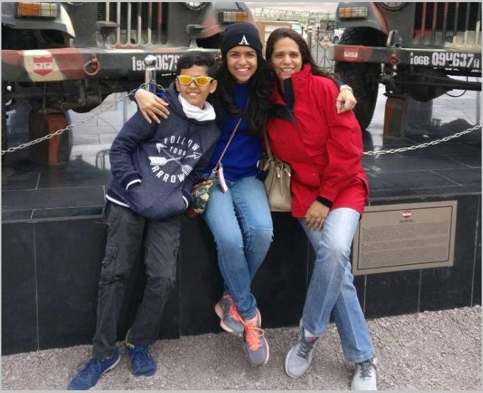 Anahita Varma and her children
