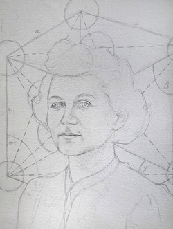 Original sketch of Sheila Tinney supplied with submission
