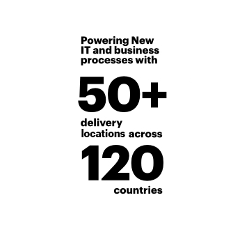 Powering New IT and business process with 50+ delivery locations across 120 countries
