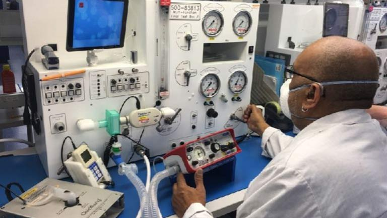 Coordinating UK medical ventilator production