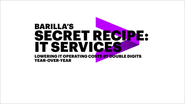 Barilla's secret recipe: IT services lowering IT operating costs by double digits year-over-year