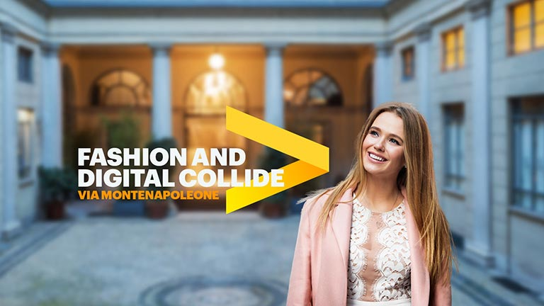 Fashion and digital collide: Via montenapoleone