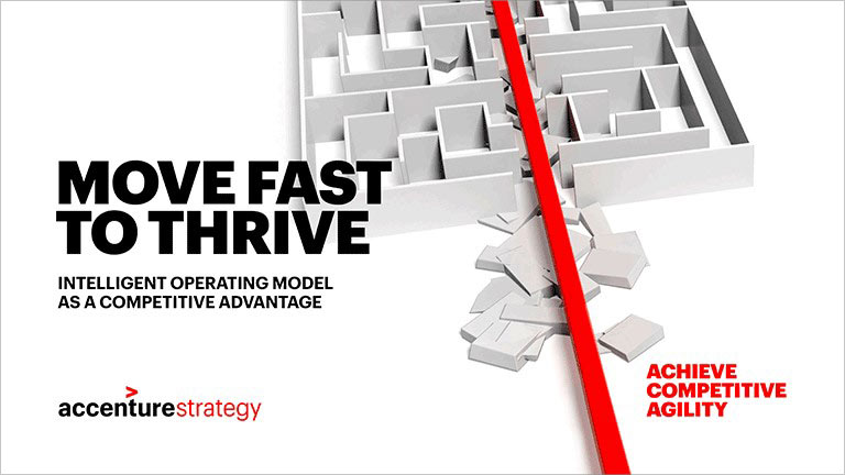 Move fast to thrive intelligent operating model as a competitive advantage Accenture Strategy Achieve competitive agility