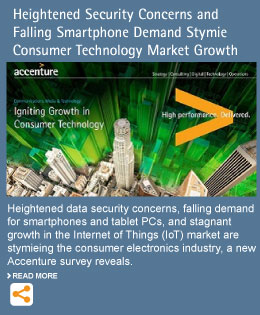 Heightened Security Concerns and Falling Smartphone Demand Stymie Consumer Technology Market Growth, Accenture Survey Reveals