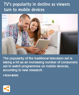 TV's popularity in decline as viewers turn to mobile devices